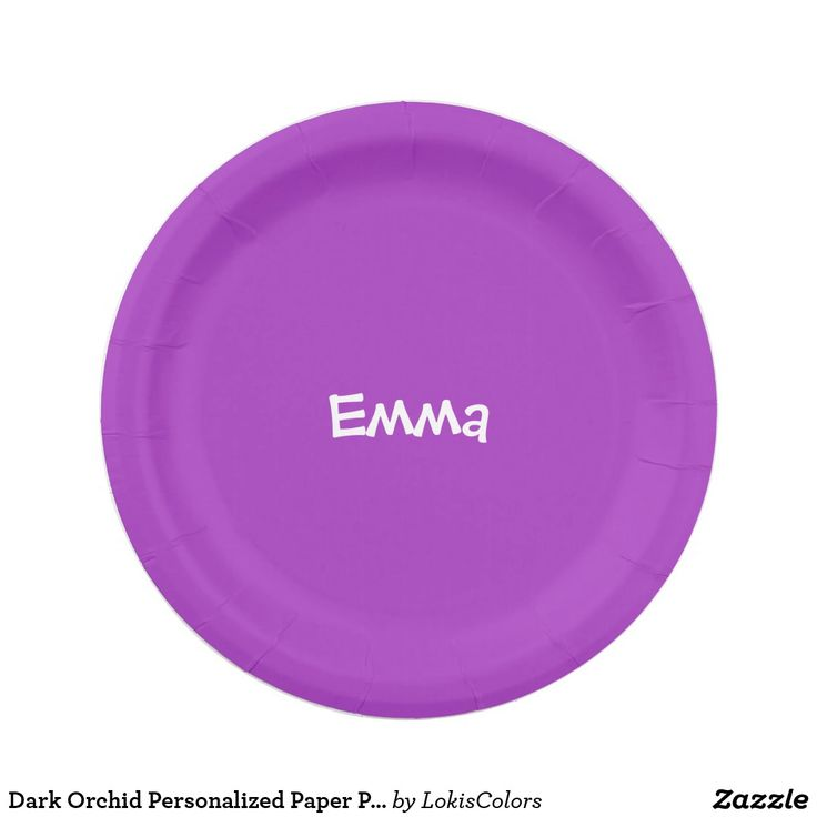 Dark Orchid Personalized Paper Plate  sc 1 st  Pinterest & 613 best Custom Plates images on Pinterest | Custom plates Paper ...