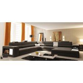 polaris italian leather sectional sofa in grey this sofa is so big