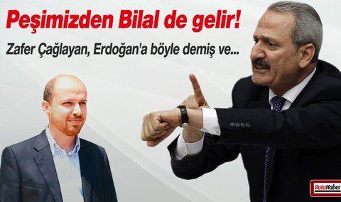 Çağlayan Erdoğan'a 'resti çekti' iddiası 17 Aralık operasyonunda adı geçen 4 bakandan Zafer Çağlayan'ın Cumhurbaşkanı Erdoğan'a Biz Yüce Divan'a gidersek Peşimizden Bilal de gelir dediği iddia edildi.