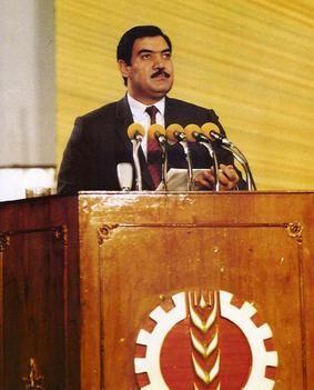 Najibullah Ahmadzai (B: 2/1947-9/27/1996) known as Najibullah or Dr. Nab was the President of Afghanistan 1987-1992, when the mujahideen took over Kabul.   Wikipedia.