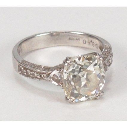 Cushion Cut Engagement Ring Vintage..PERFECT  so pretty....a little smaller would be perfect :)