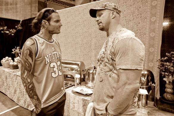 """""""Shooting the breeze"""" Stone Cold Steve Austin & the Charismatic Enigma Jeff Hardy"""