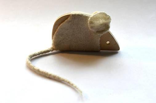 morusa.design / Hračka Myška biela...