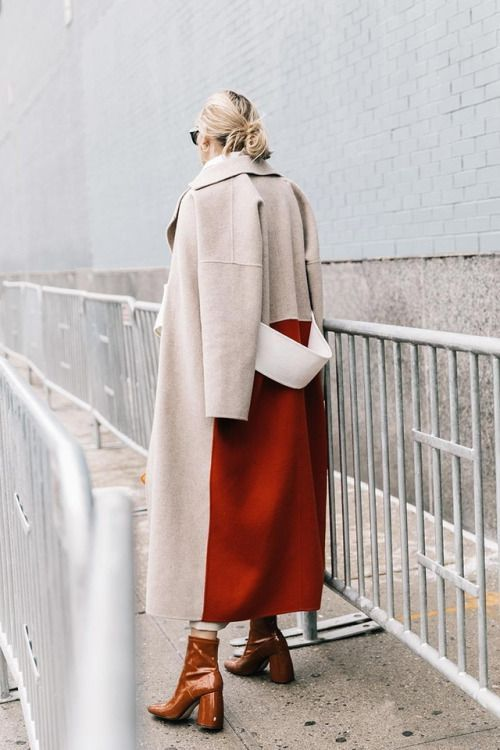 This two-toned coat is beautiful.