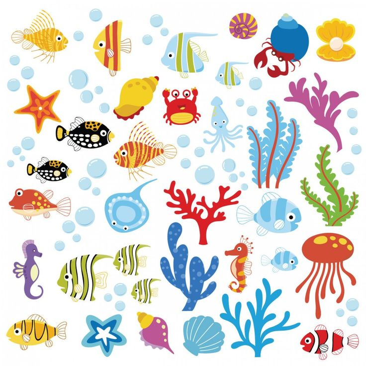 Wonderful Easy Removable Colorful Vinyl Ocean Themes Wall Decal For Nursery  Design With Children Stickers Plus