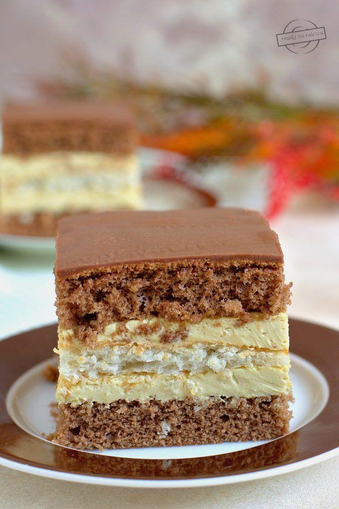 Kakaowy Biszkopt Z Kokosowa Wkladka I Masa Cappuccino Smaki Na Talerzu Sweet Desserts Dessert Recipes Desserts