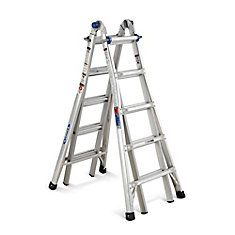 Aluminum Telescoping Multi-Purpose  Ladder Grade 1A (300# Load Capacity) - 22 Feet