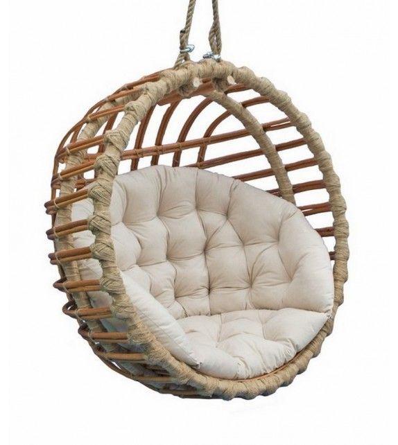 Fotel Wiszacy Wiklinowy Kula Braz Basket Chair Hanging Chair Chair