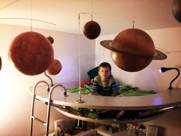 Flying Saucer Bed made with #KeeKlamp