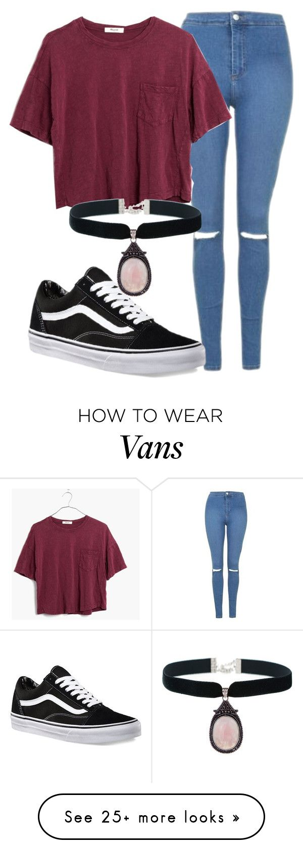 """I'm back thanks for 600!!"" by grungenacho on Polyvore featuring Topshop, Madewell and Vans"