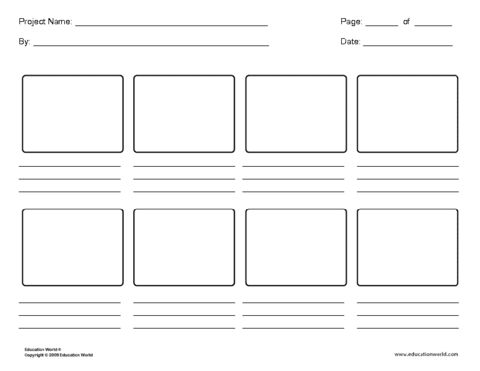 Digital Storyboard Templates Education World Storyboard Template