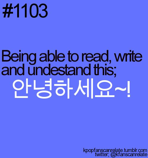 I CAN read, and understand this!!! :) It would take me about 5 minutes or so to figure out the characters to write it, but I know! Woohoo! Teaching myself korean over the summer has paid off :)