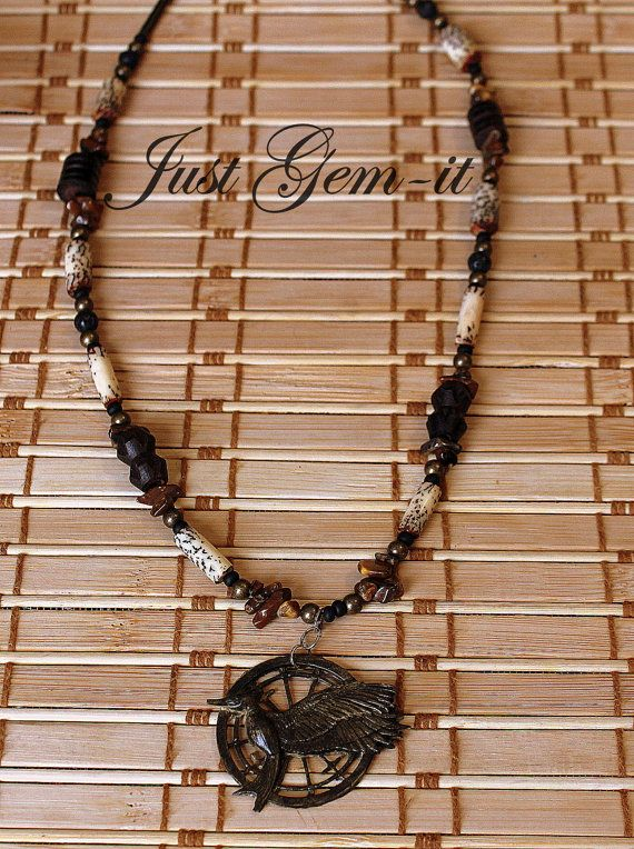 Hungergames Catching Fire handcrafted necklace by Justgemit, $28.00