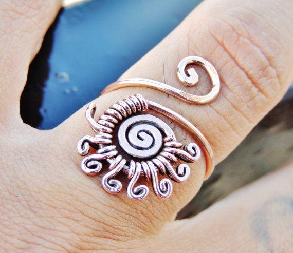 Sol anillo de Curlys joyería hecha a mano por Dereck por keoops8