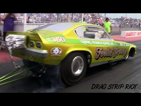 ▶ 2015 Great Lakes Funny Car Nationals Steve Crook Feelin' Groovy 1972 Vega Nostalgia Drag Racing - YouTube