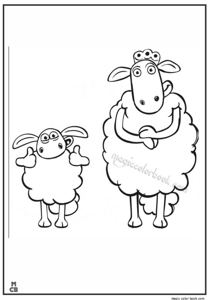 26 best Shaun and the sheep Coloring pages free images on