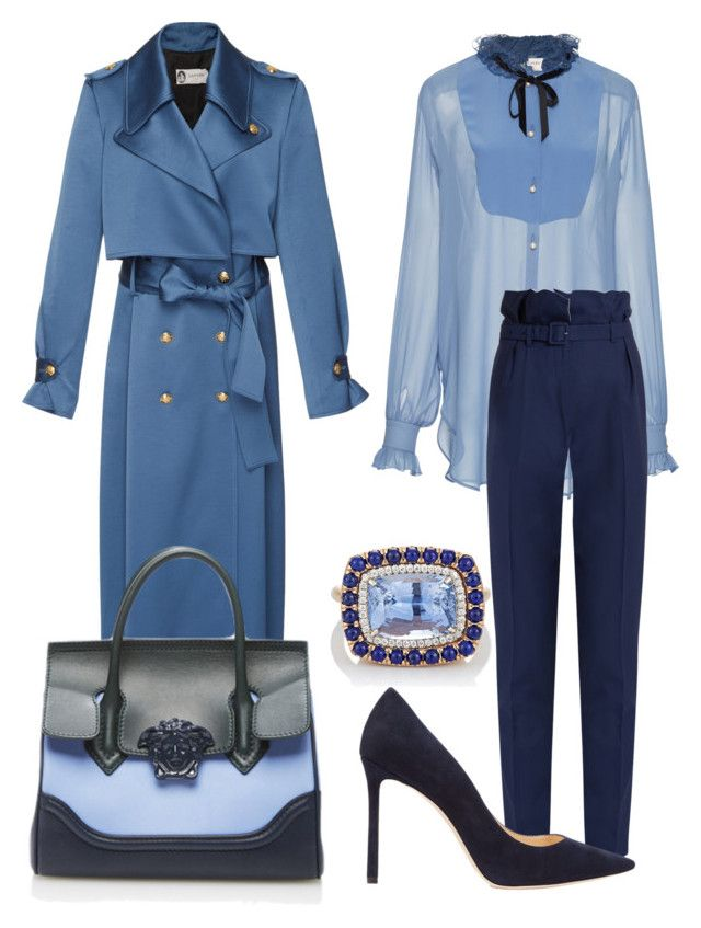 """""""Lawyer 6"""" by distressqn on Polyvore featuring Lanvin, Gabriela Hearst, Jimmy Choo, Irene Neuwirth and Versace"""