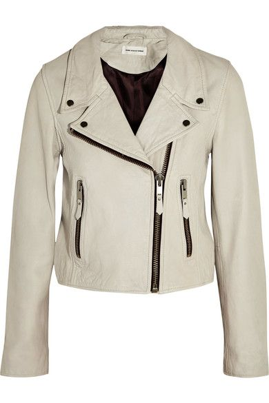 Étoile Isabel Marant - Aken Washed-leather Biker Jacket - Ecru - FR