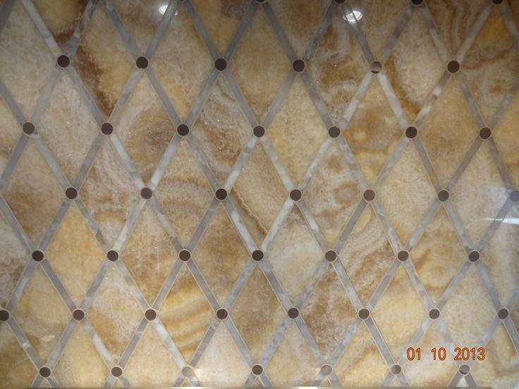backsplashpolished carmello and white onyx in a diamond