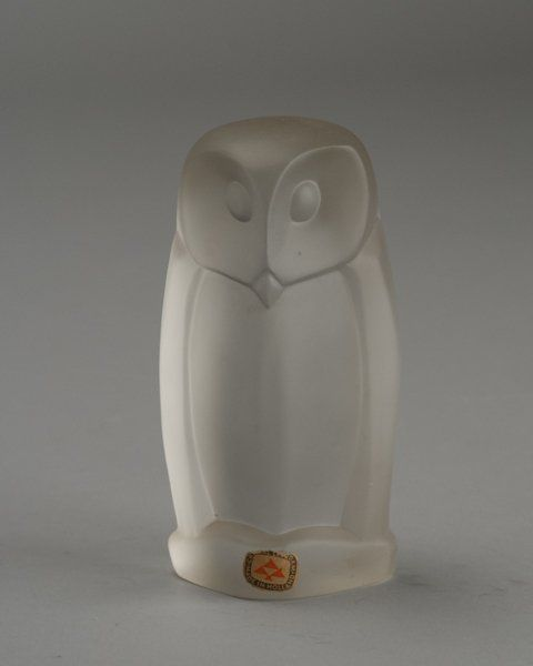 238: Owl (UIl) by Hein Hauptman for Leerdam Glass. : Lot 238