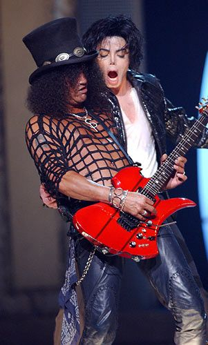 MJ and Slash. Greatest picture ever.
