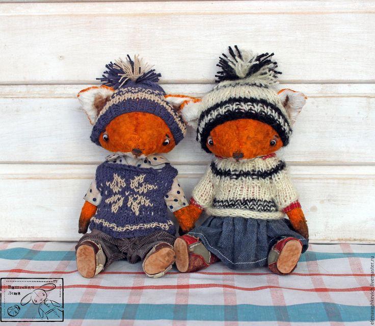 Купить Леля и Витя ХТ 2016 - рыжий, лис, лисенок, тедди, выставка, хелло тедди