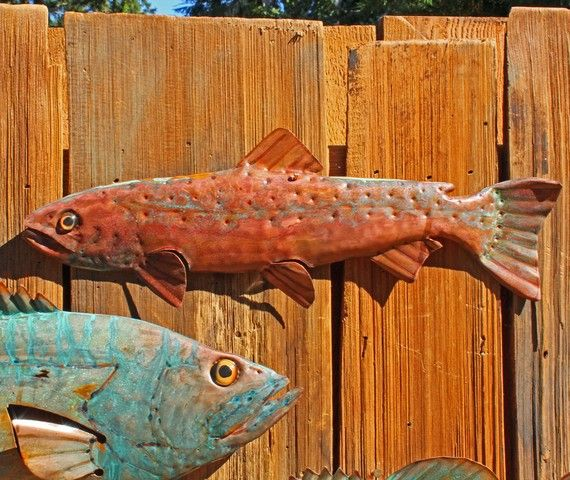 CUSTOM for you Trophysized salmon trout or by natureartstudio
