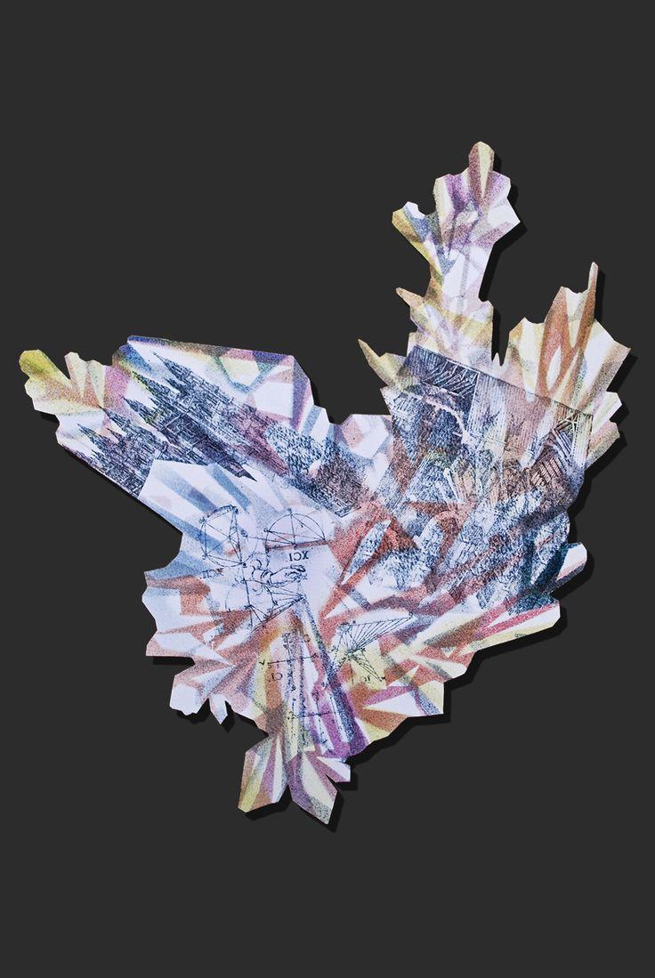 """Lapis Philosophorum"" - The Mineral Resonance by G&K Lusikova #alchemy #architecture #art #contemporaryart #paper #etching #crystal #scienceBehance :: Editing ""Lapis Philosophorum"" - The Mineral Resonance"