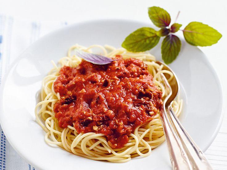 Vegane-Spaghetti-Bolognese.          Kein Unterschied zur echte Bolognese;-)