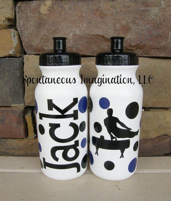 Boys Gymnastic Sport Water Bottle by IMAGINATIONandBEYOND on Etsy, $8.25