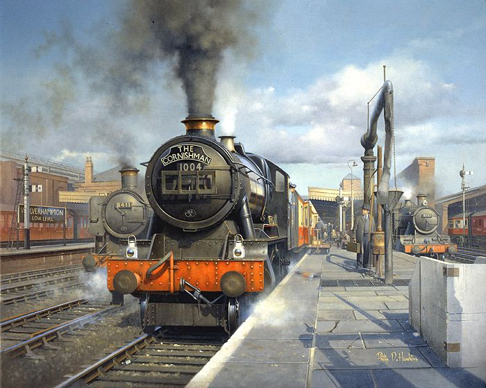 Ex-LMS 'Patriot' class 4-6-0 No. 45509 'The Derbyshire Yeomanry' and ex-LMS 'Jubilee' 4-6-0 No. 45682 'Trafalgar' with southbound trains - Philip Hawkins