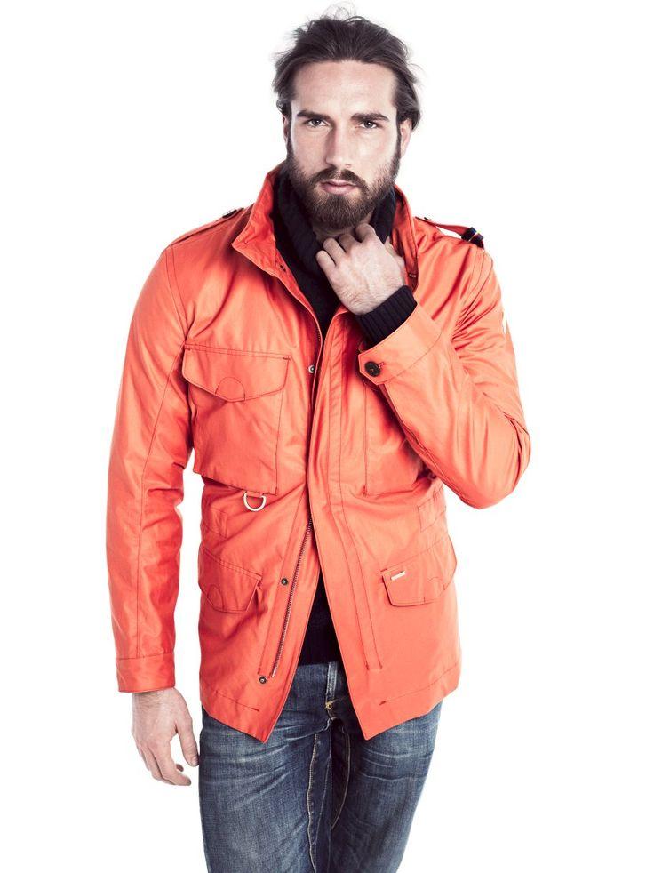 Bareggio. #Orange #Jacket #Menswear.  www.snoot.se