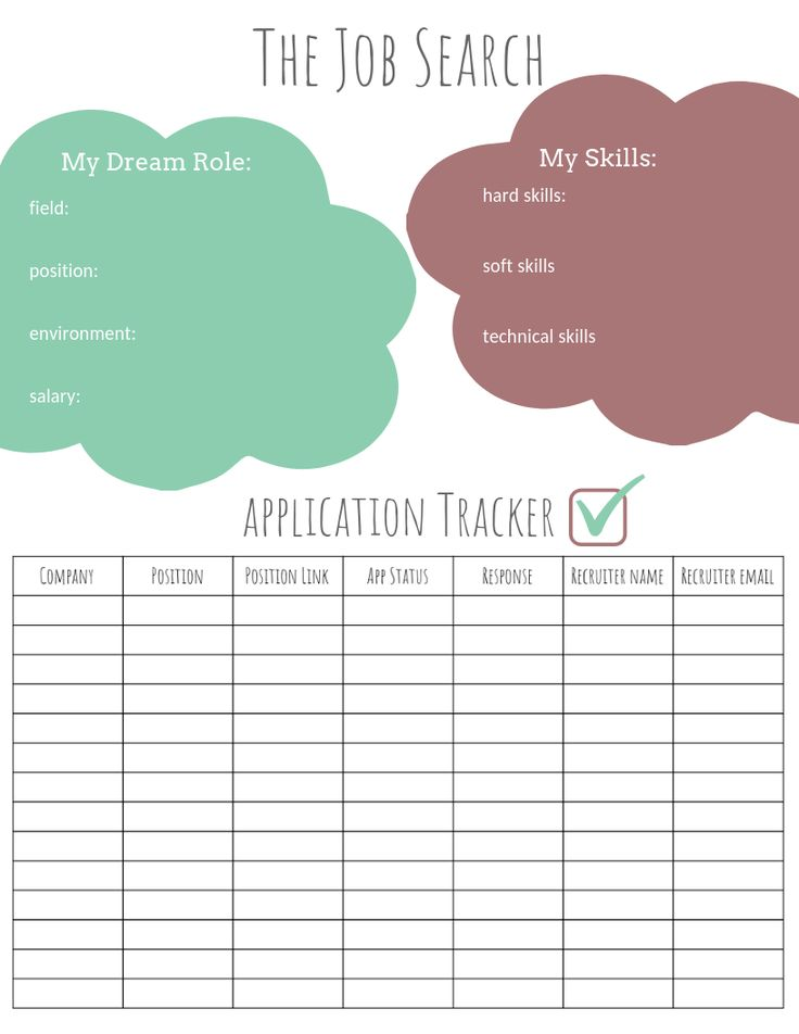 Job Application Worksheet/Tracker is now available for