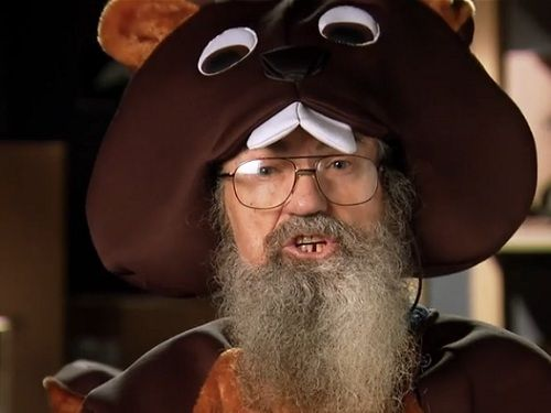 duck dynastys si scares up man eating mutant beaver getup for - Jase Robertson Halloween Costume