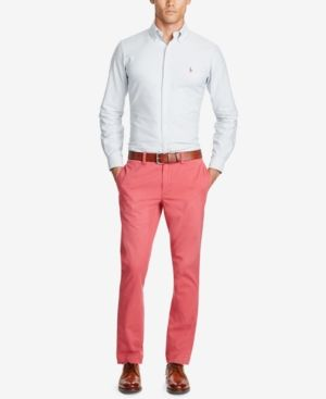 Polo Ralph Lauren Men's Slim-Fit Chino Pants - Red 35x30