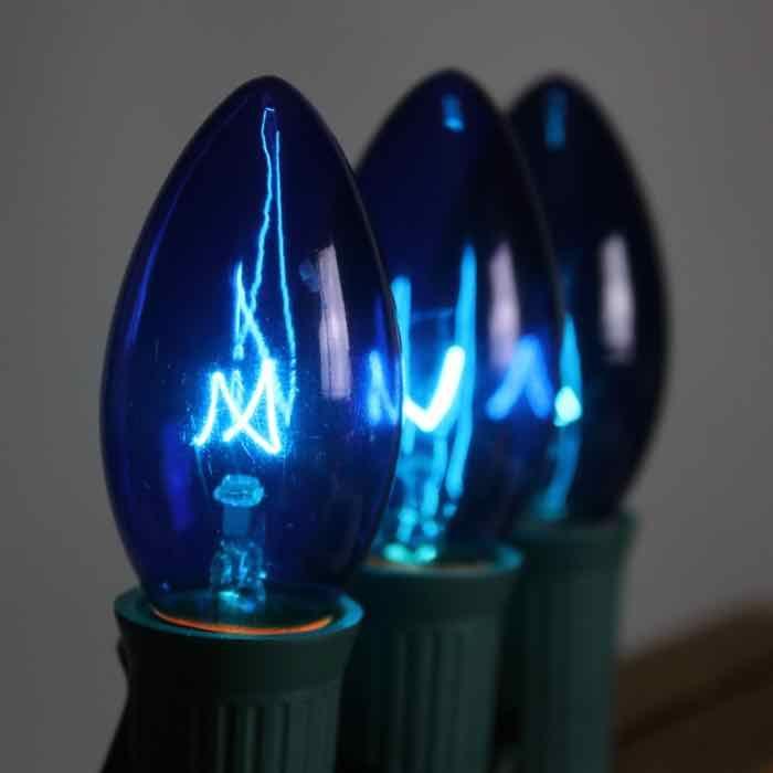 Blue C7 Bulbs Incandescent Vintage Style Bulb Christmas Light Bulbs Edison Light Bulbs