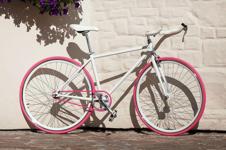 """WOO HOO BIKES - PINKY 17,5"""" - Fixed Gear Bicycle, Fixie, One Gear, Track Bike #WooHooBikes"""