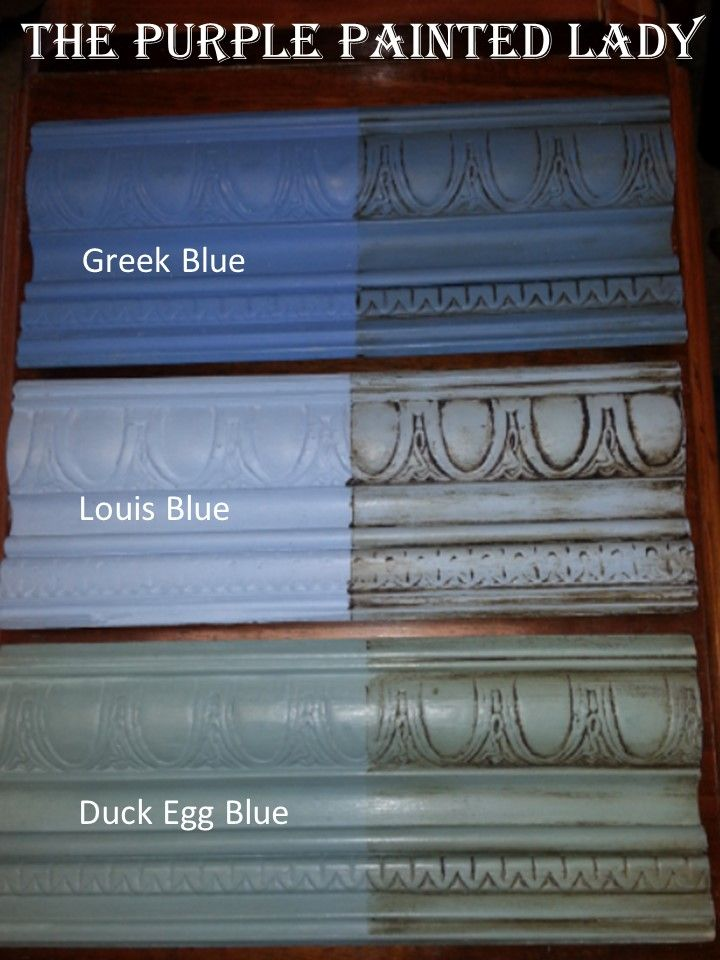 greek blue cabinets | Louis Blue Duck Egg Blue Greek Blue The Purple Painted Lady Comparison