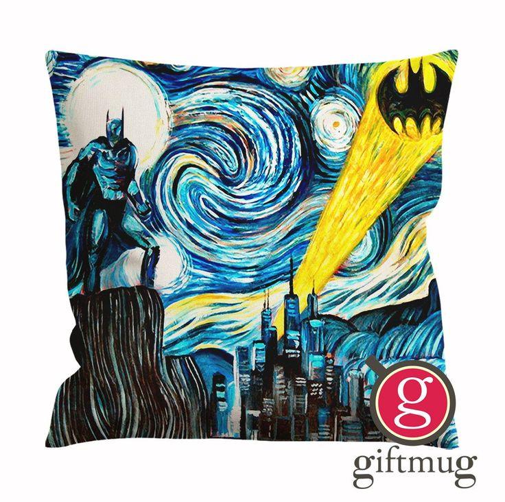 Batman Starry Night Cushion Case / Pillow Case