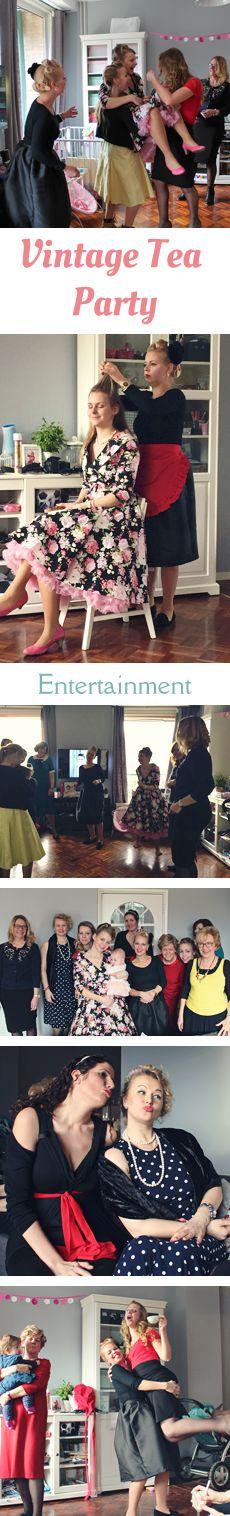 MizFlurry: Vintage tea party deel 4 - Entertainment - Wat doe je eigenlijk op een Vintage High Tea, behalve lekker eten en drinken? In deze post een paar ideeën, zoals samen opmaken en haar doen, dansen en gekke foto's maken. Leuk voor een ladies only feest.