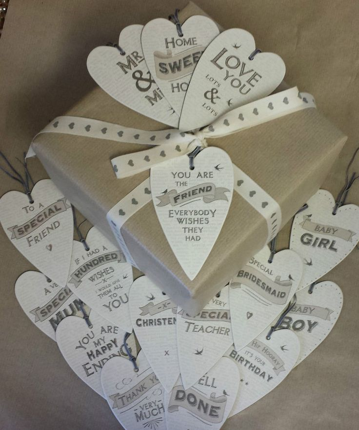 East Of India Heart Gift Tag Vintage Chic Wedding Tags Friend Birthday Sign Grey