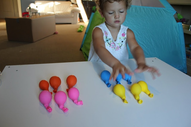 Play At Home Mom LLC: SENSORY BALLOONS- sensory play idea-- fill balloons with various materials (lentils, couscous, hair gel, water, flour, ooblek, gak, etc.). have two balloons of each material. allow child to feel, explore, and describe each balloon for its contents. see if they can find the match for each balloon (you found one water filled balloon, can you find the other that feels like it has water in it?). have them sort the balloons by how they feel--- soft, squishy, crunch, etc.