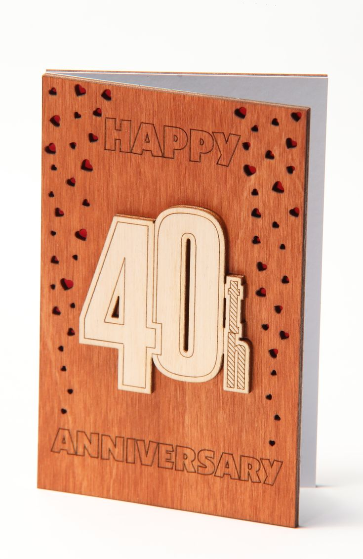 40th anniversary card gift for fourty years fortieth 40
