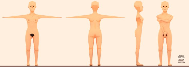Low poly pixel art textured female character for our sci-fi roleplaying game in development.