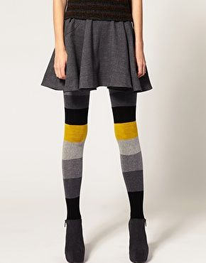 $21.49 ASOS Color Block Stripe Tights