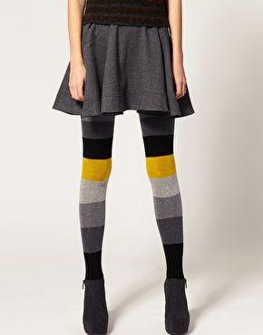 ASOS Color Block Stripe Tights