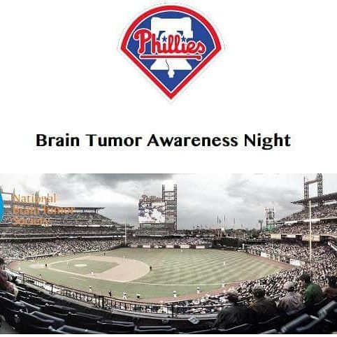 Who wants to join me and the local Brain Tumor Community for Brain Tumor Awareness Night at Citizens Bank Park on Saturday May 12th at 7:05pm when the Philadelphia Phillies go up against the New York Mets? A portion of ticket sales will benefit the mission of the National Brain Tumor Society. Once 500 or more tickets are sold NBTS will be recognized on site throughout the evening! I'm going to purchase tickets this weekend. If you want to sit with me comment on this post and I'll buy them…