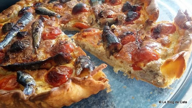 Le Blog De Cata Tarte Thon Sardines Et Tomates Recette Tarte Au Thon Recettes De Cuisine Sardines