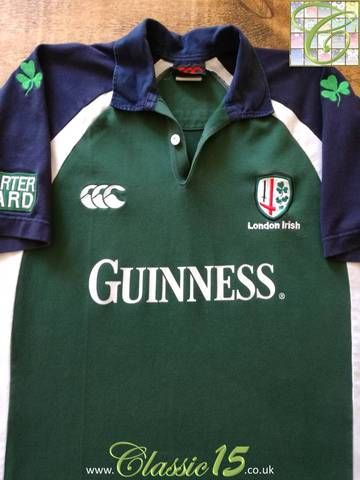 cd5005c1ffd Official Canterbury London Irish home rugby shirt from the 2004/05 season.