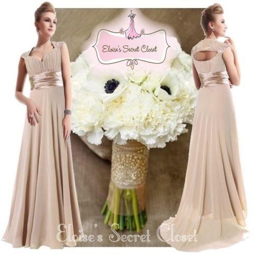 Neutral Mink Latte Bridesmaid Dresses by eloise2011 @eBay